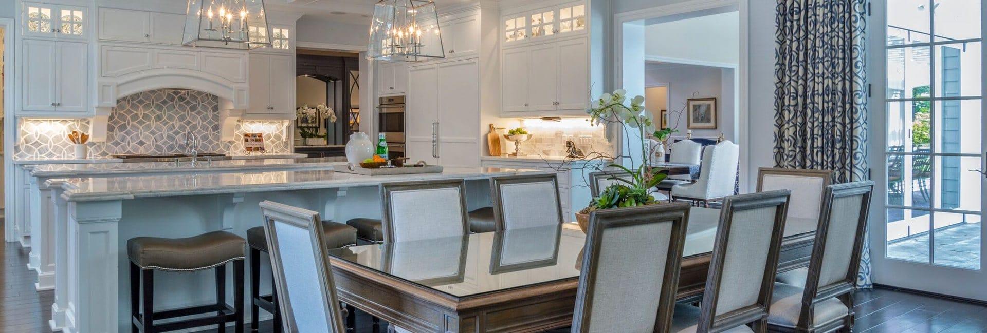 Kitchen interior design of Berkshire house in La Cañada