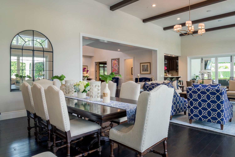 Dining area interior design of Berkshire home, La Cañada