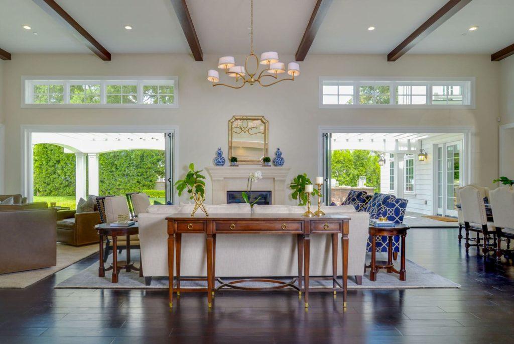 Berkshire house living room interior design in La Cañada