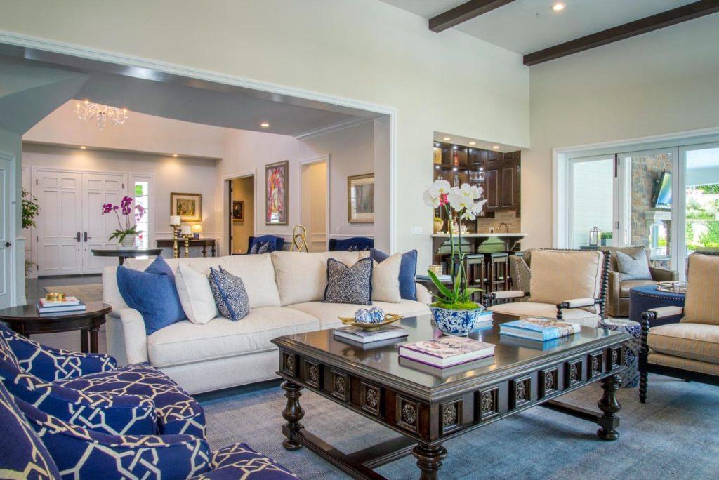 Berkshire house living room interiors in La Cañada