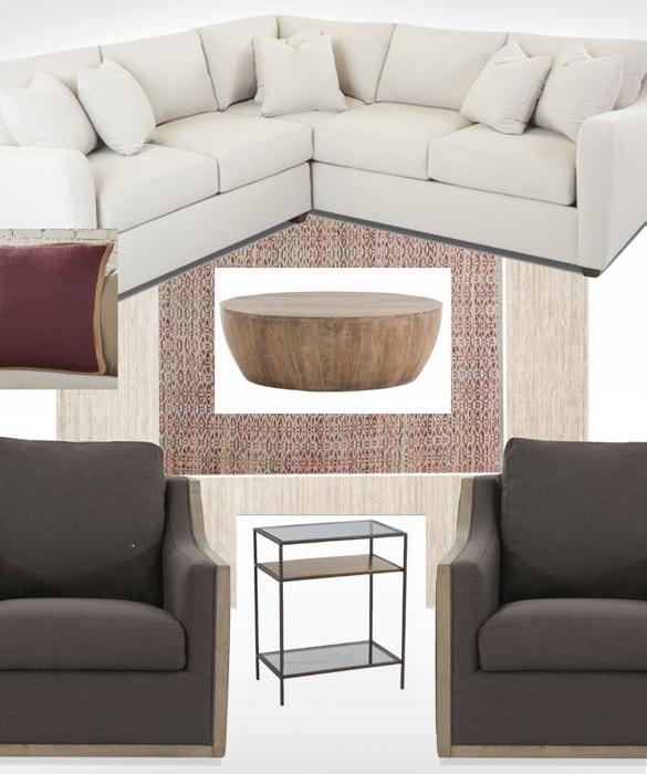 Interior design presentation preparation by Courtney Thomas Design, La Cañada
