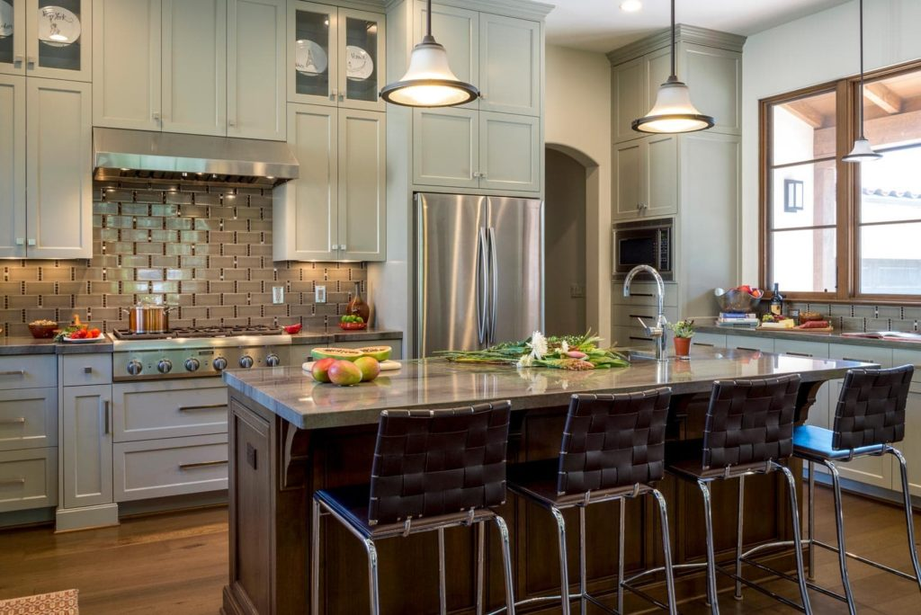La Cañada Blvd house kitchen lighting design