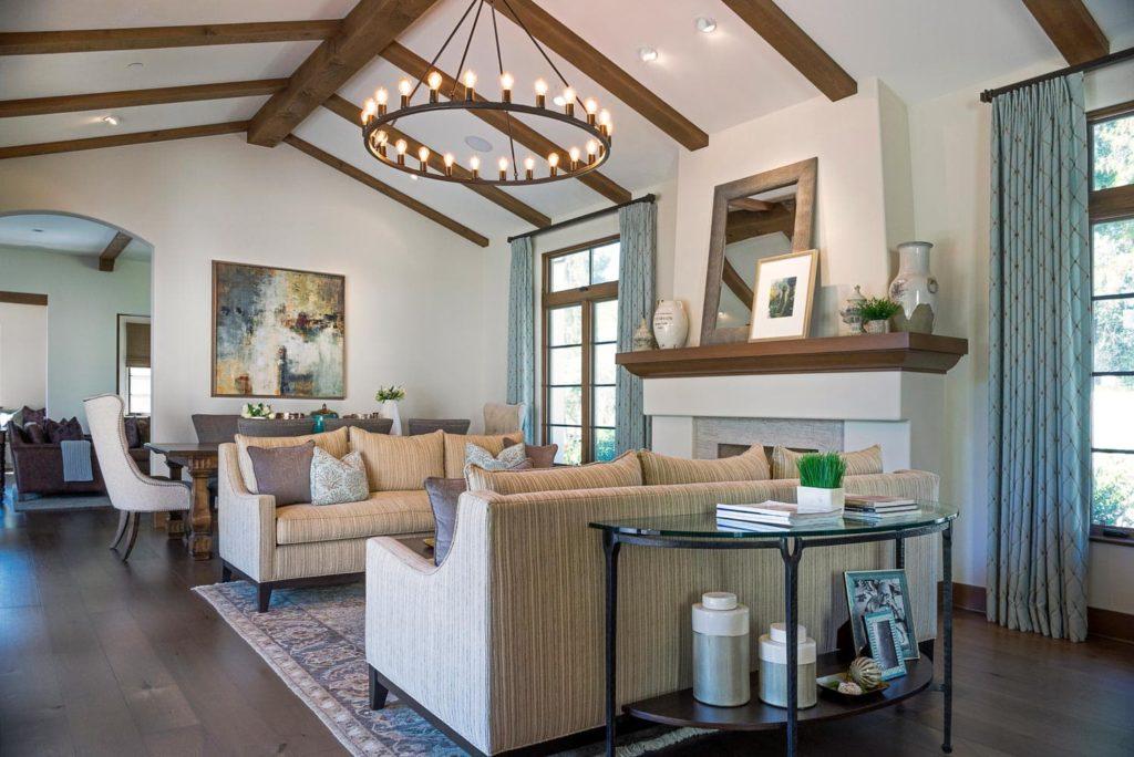 Living area lighting design of a La Cañada Blvd house