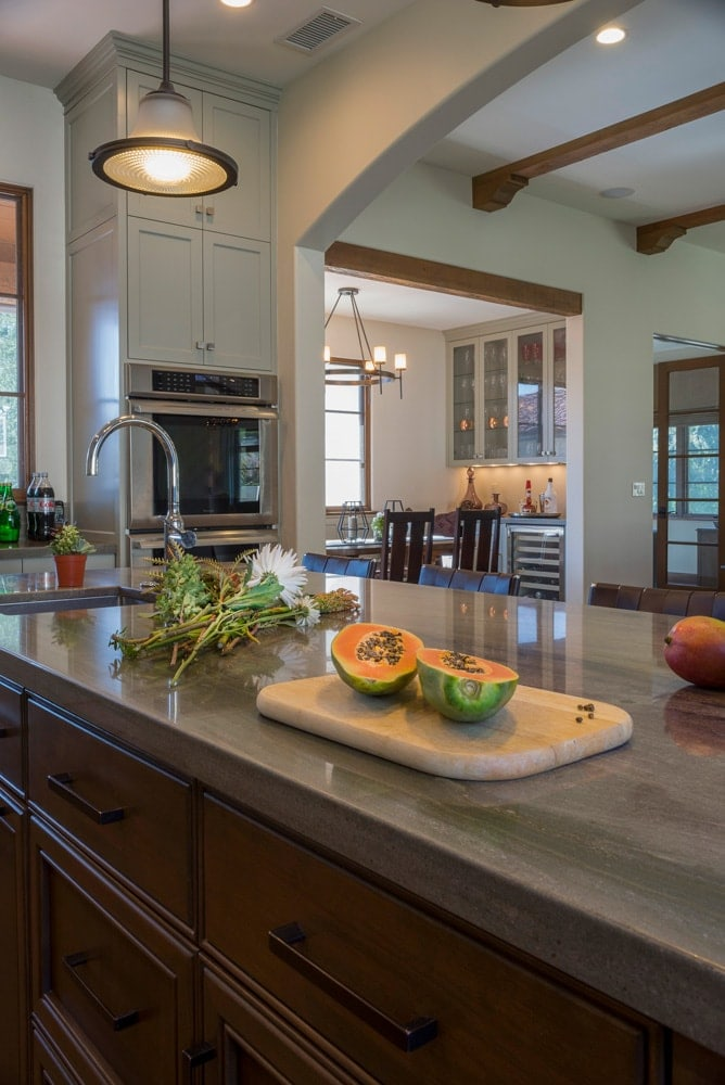Kitchen island counter top design of a La Cañada Blvd house