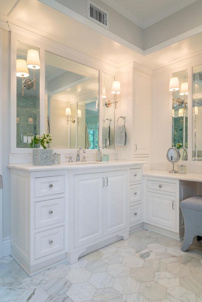 Bathroom vanity design of Berkshire home, La Cañada