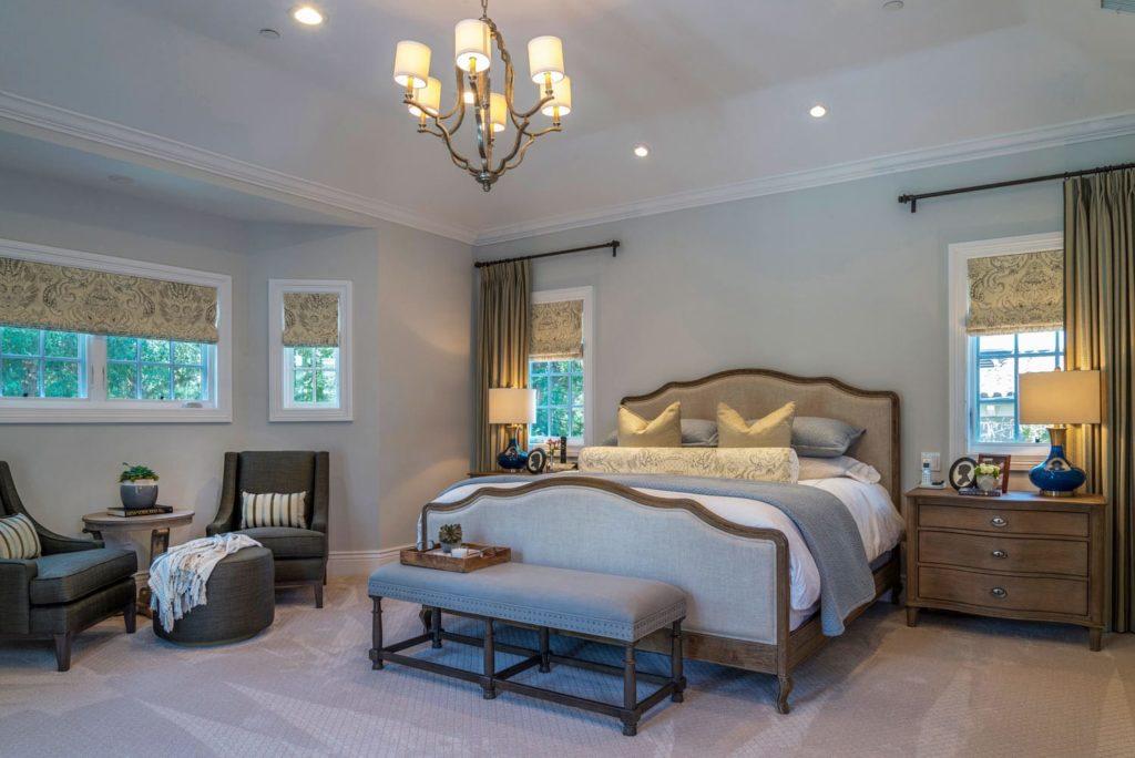 Master bedroom interior design of Berkshire home, La Cañada
