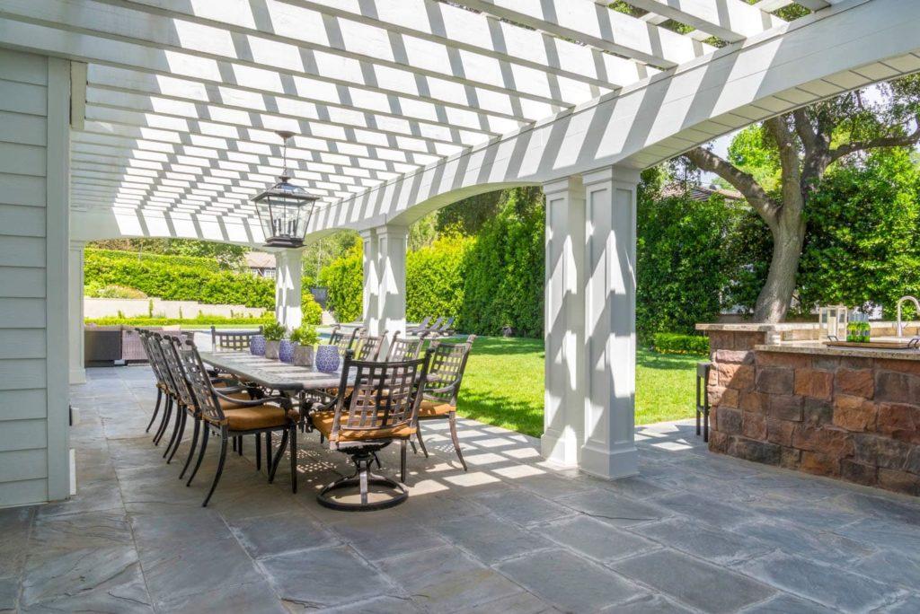 Outdoor dining space design of a Berkshire home, La Cañada