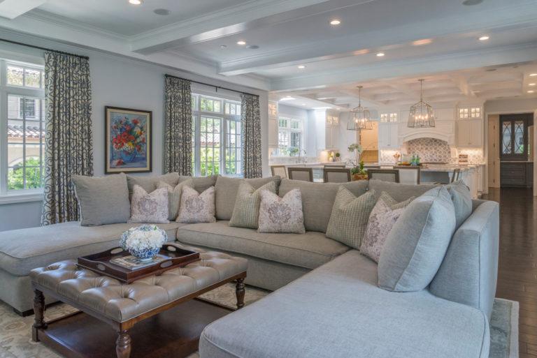 Family lounge interior design in La Cañada