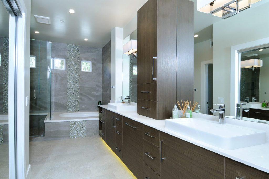 Master bathroom design of a house in Glendale, CA