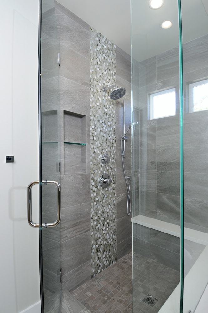 Bathroom walk-in shower design in Glendale, CA