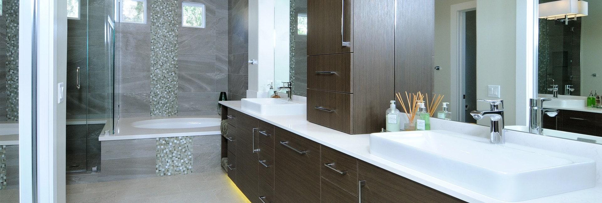 Bathroom interior design of a house in Glendale, CA