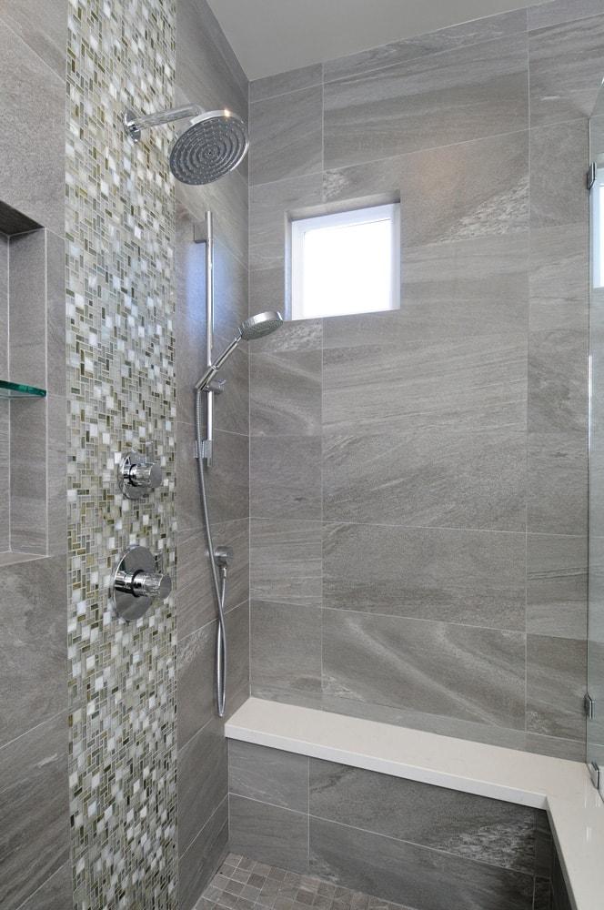 Luxury walk-in shower design in Glendale, CA