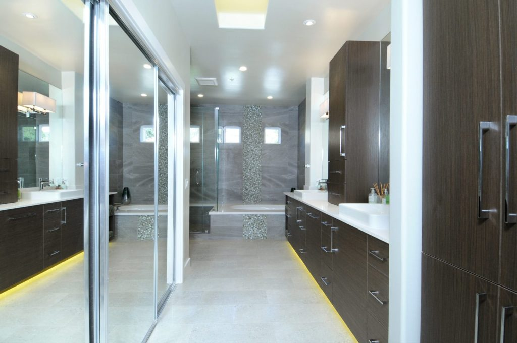 Master bathroom interior design of a house in Glendale, CA