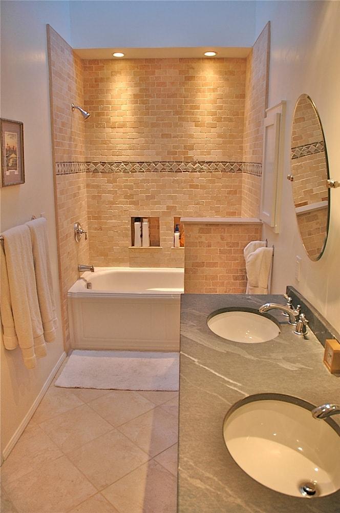 Guest house bathroom design at Kings Road, La Cañada