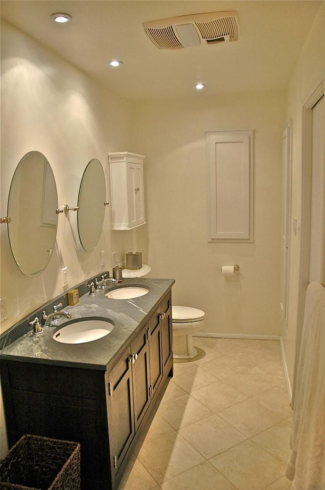 Guest house bathroom sink design at Kings Road, La Cañada