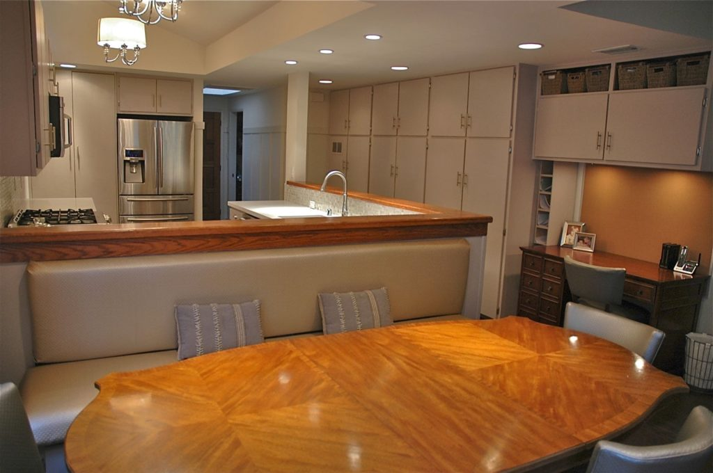 Guest house kitchen dining interior at Kings Road, La Cañada