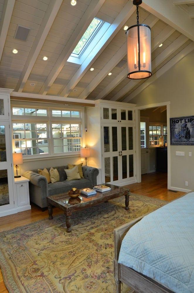 Bedroom vault ceiling design in Verdugo Woodlands, CA