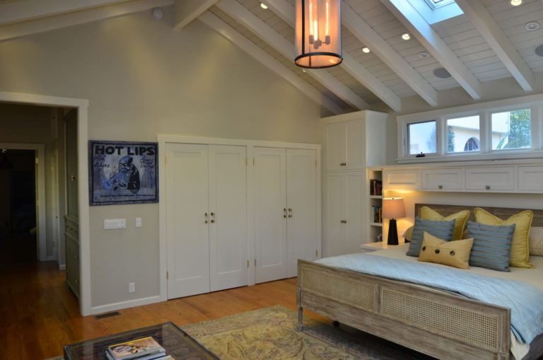 Master bedroom interior of a house in Verdugo Woodlands, CA
