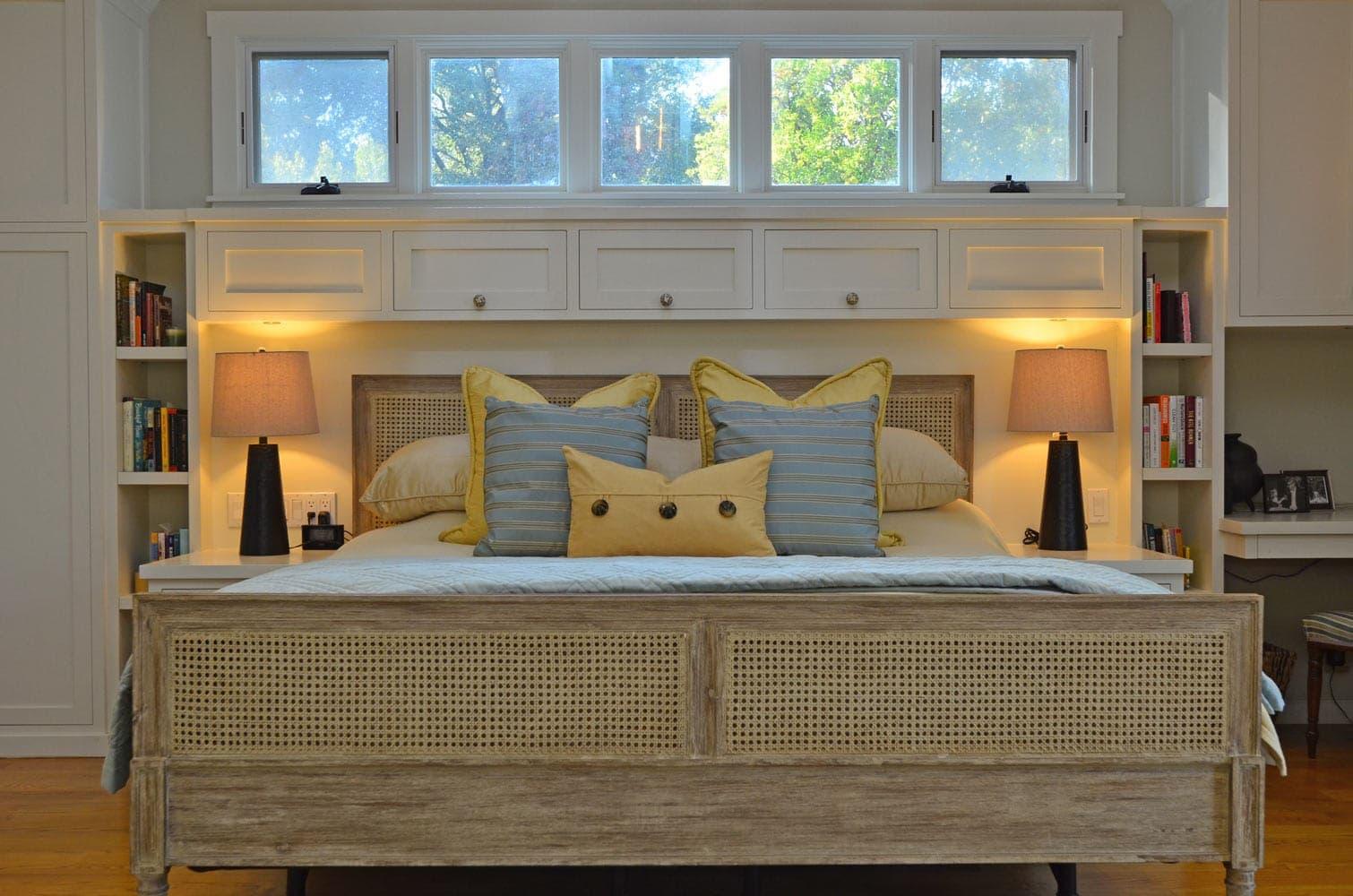 Master bedroom interior design of a house in Verdugo Woodlands, CA