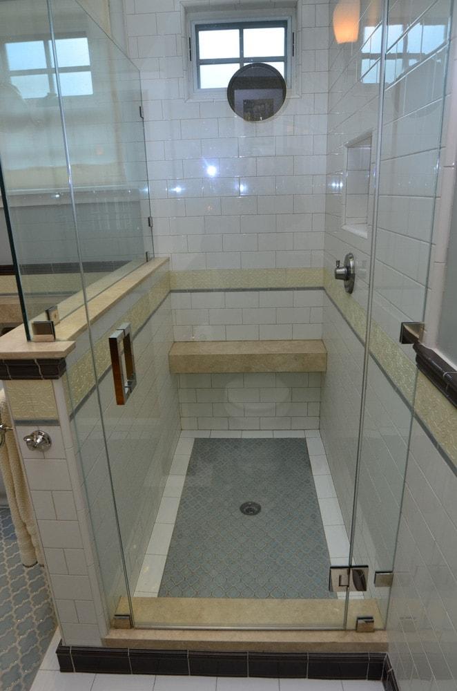 Walk-in shower design in Verdugo Woodlands, CA