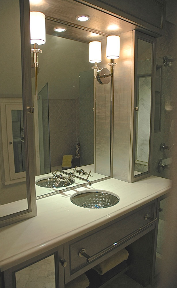 Showcase house bathroom vanity design in Pasadena, CA