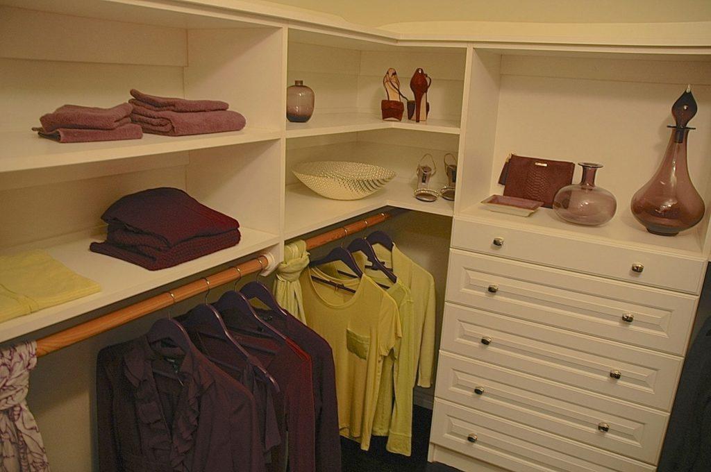 Showcase house bedroom closet design in Pasadena, CA