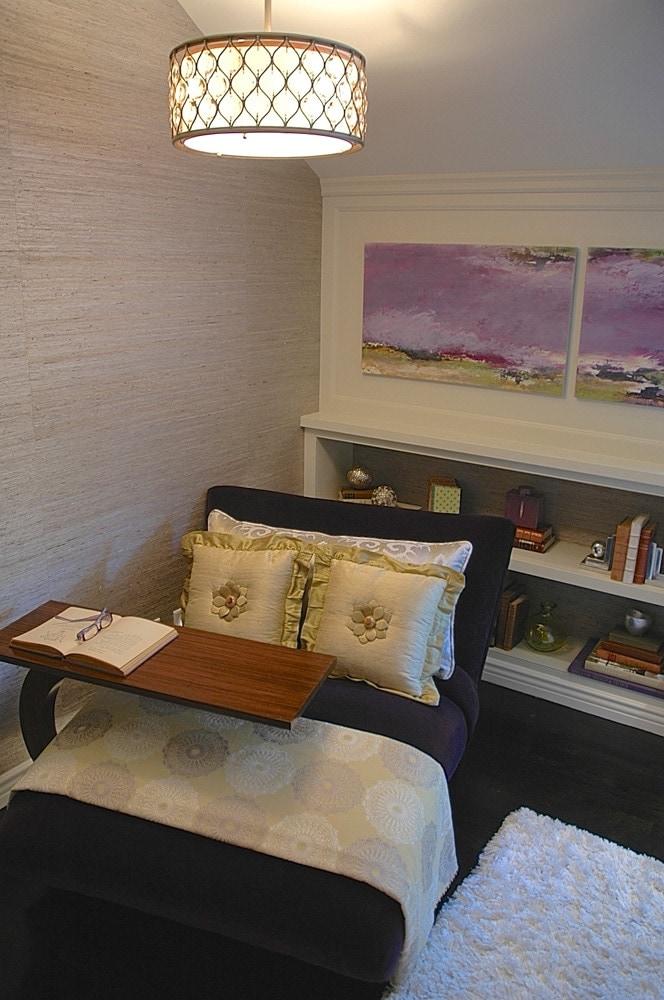 Showcase house bedroom reading nook in Pasadena, CA
