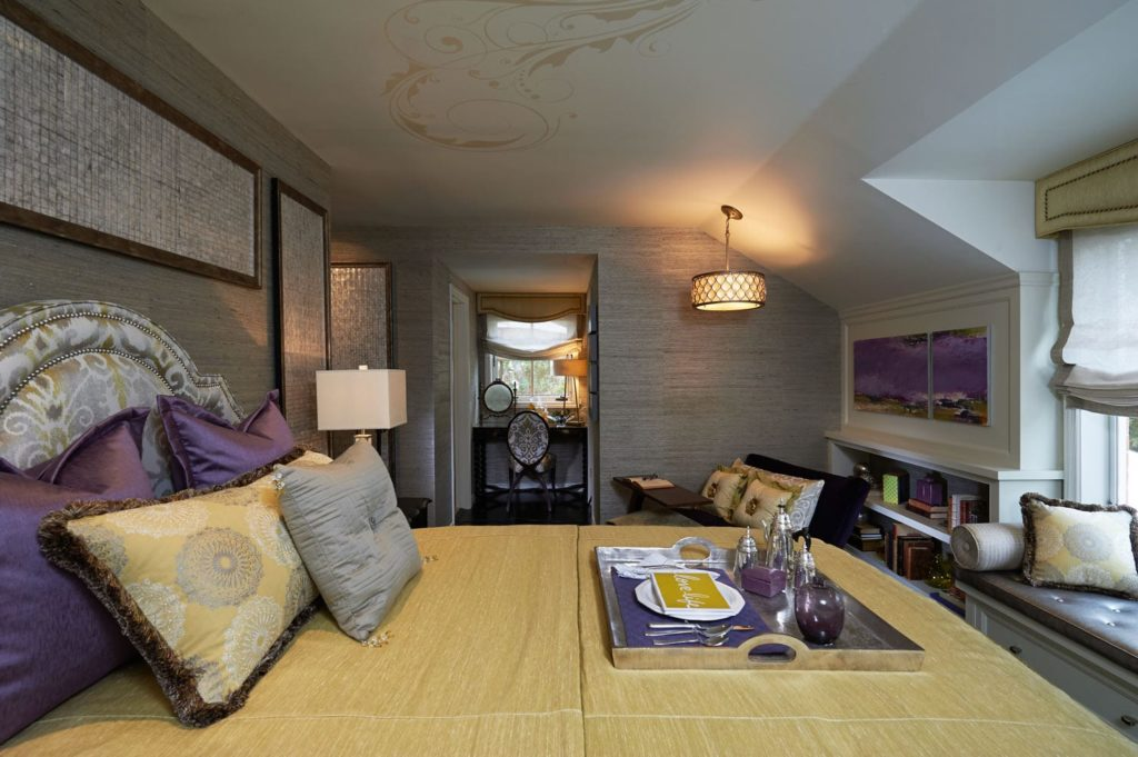 Elegant bedroom design of a house in Pasadena, CA