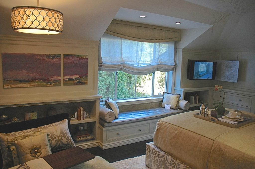Showcase house luxury bedroom interior design in Pasadena, CA
