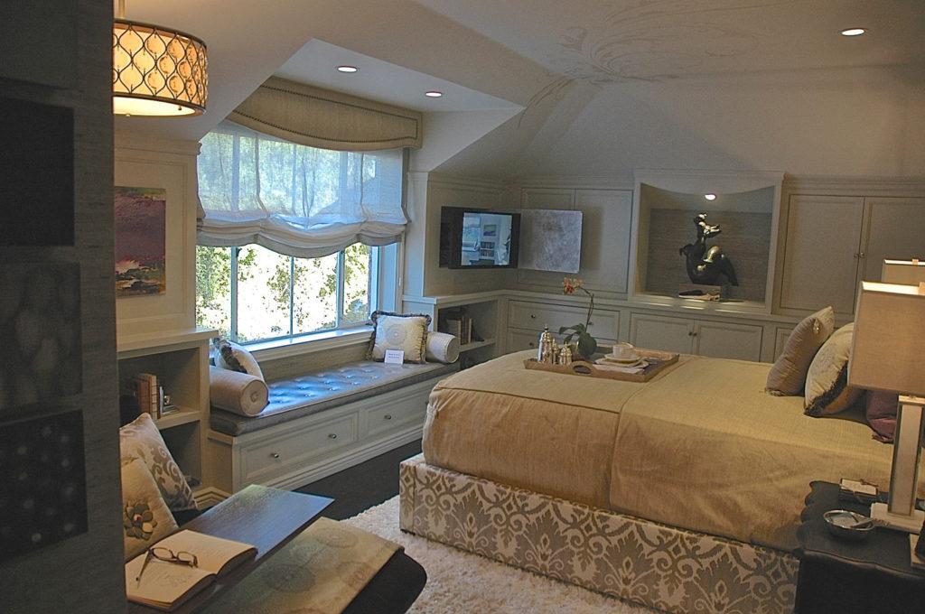 Showcase house master bedroom interior design in Pasadena, CA
