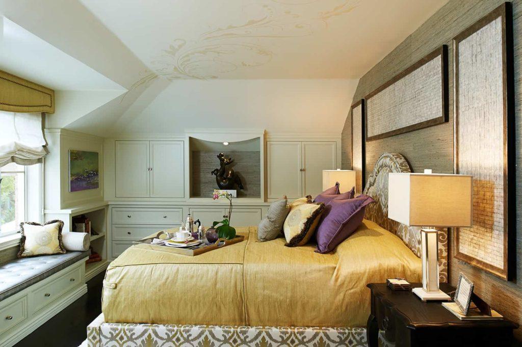 Master bedroom interior design of a house in Pasadena, CA
