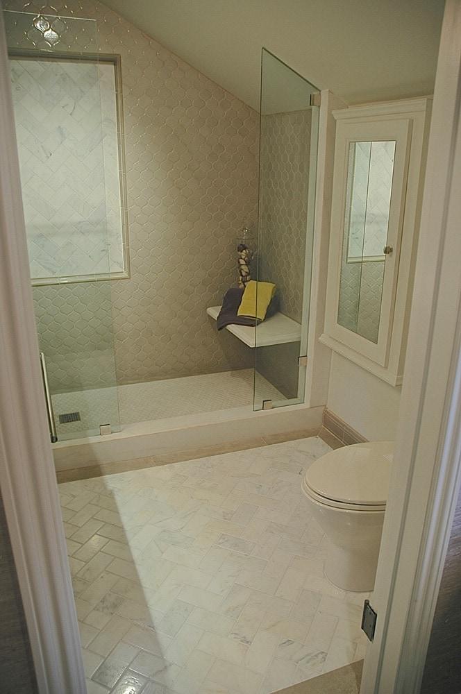 Showcase house bathroom design in Pasadena, CA