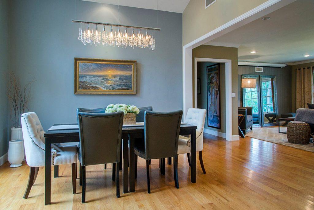 Home dining room design at Wilmar Road, La Cañada