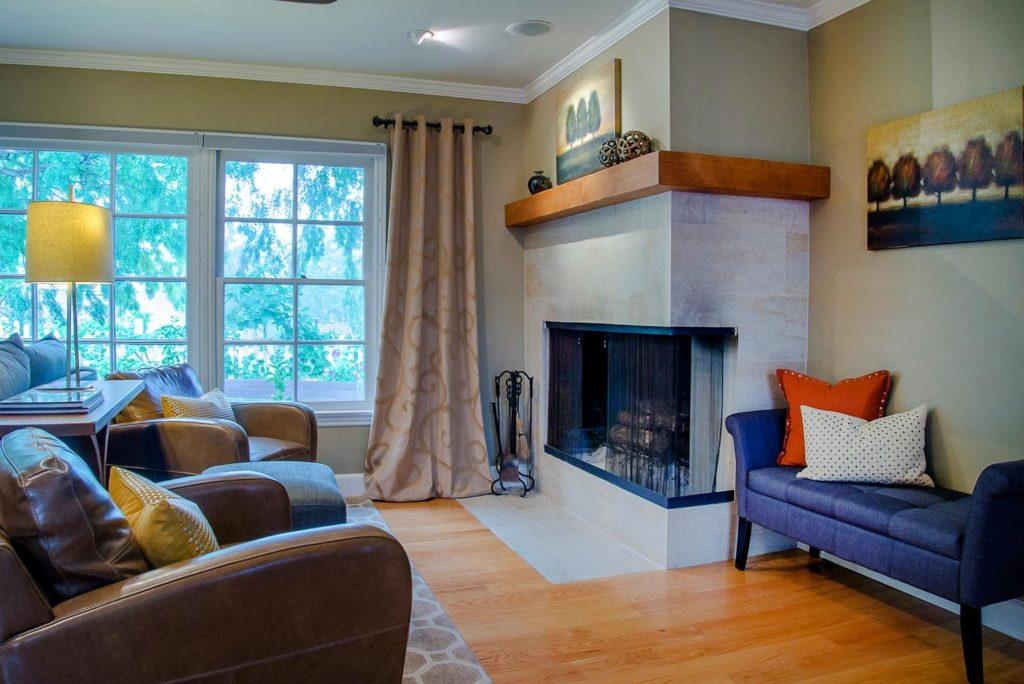 Home living room interior at Wilmar Road, La Cañada